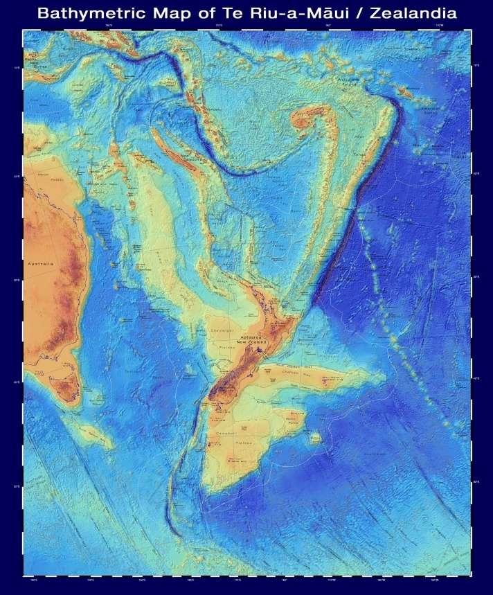 Cette carte bathymétrique est une émanation du projet Seabed2030. © GNS Science