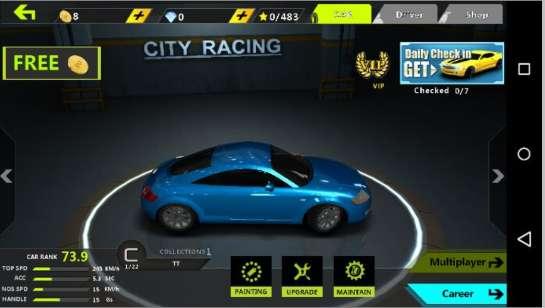 Ce jeu de courses de voitures cache un adware qui vide la batterie du smartphone. © Bitdefender