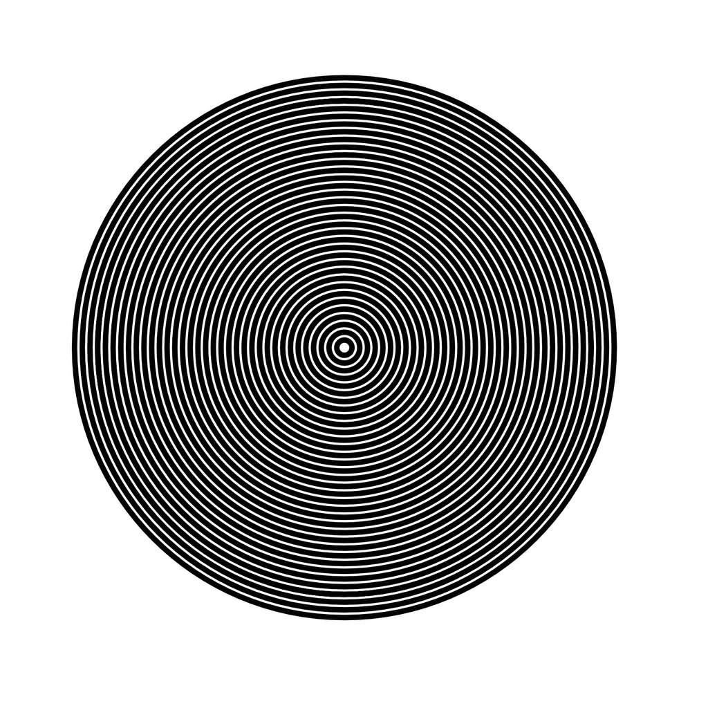Test 2 : Si des zones grisées apparaissent dans les cercles ou que vous avez du mal à distinguer les contrastes, vous êtes peut-être astigmate. © C.D. pour Futura