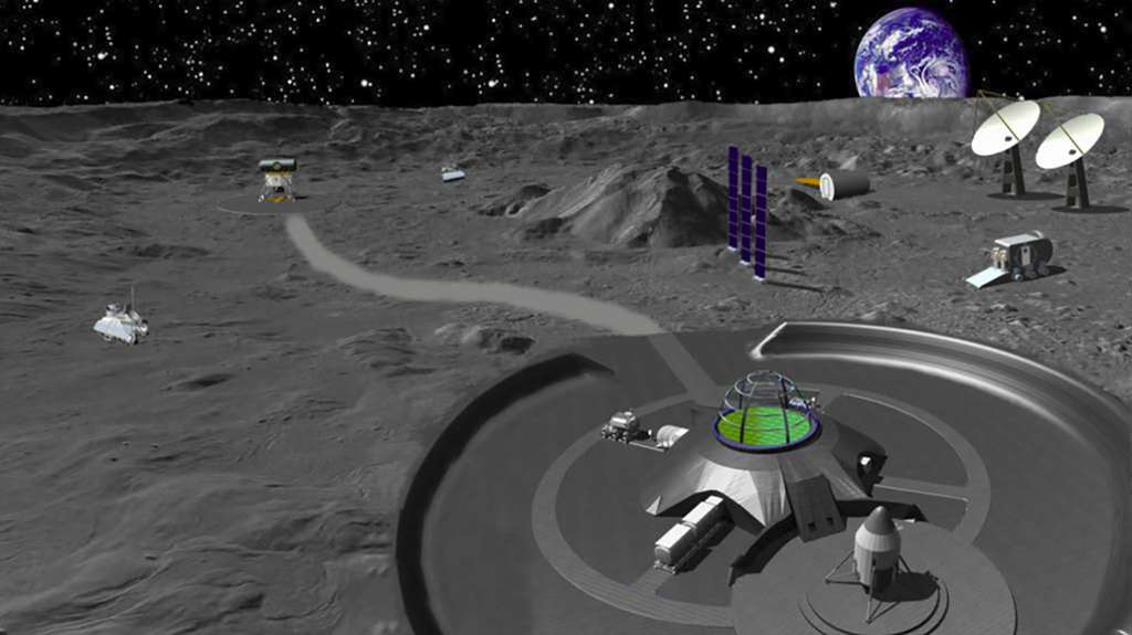 Concept de base lunaire chinoise. © China Academy of Space Technology