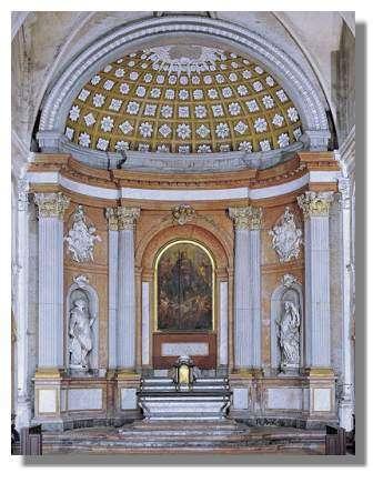 Ensemble du maître-autel de la chapelle du collège de l'Arc, Dole - Photo : Inv. Y. Sancey - © Inventaire général, ADAGP, 1997