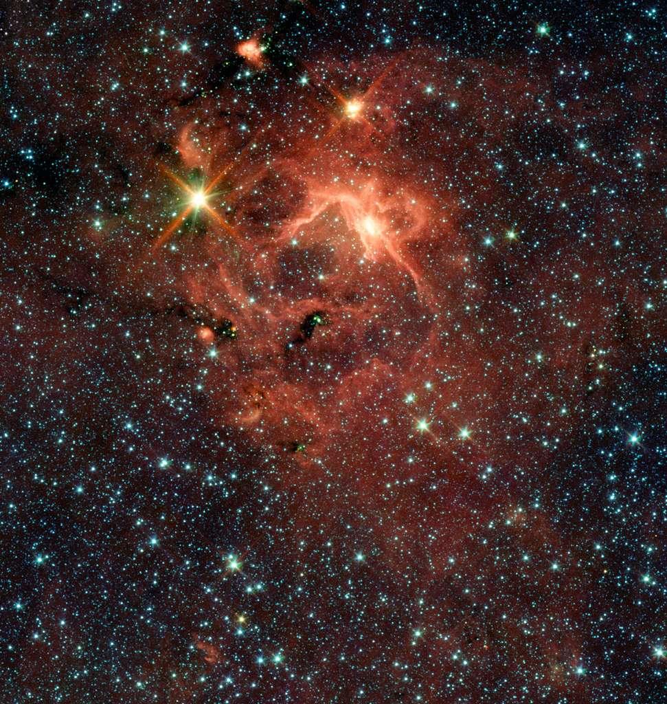 Une image de l'objet IRAS 13481-6124 vue par Spitzer. Crédit : ESO/Spitzer/NASA/JPL/S. Kraus