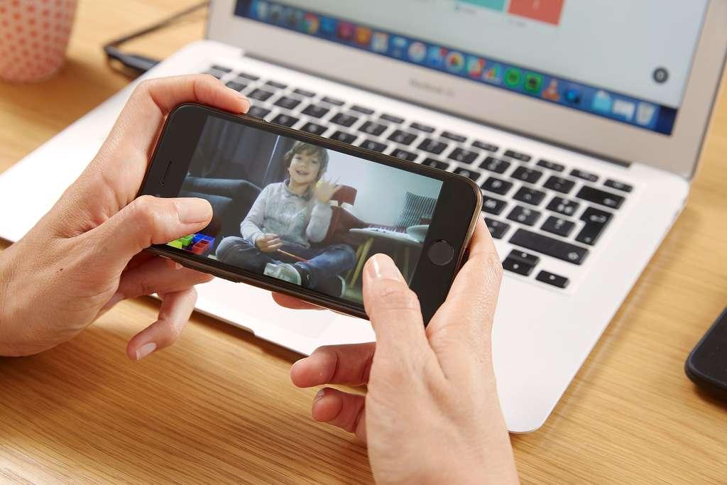 La caméra intégrée permet d'envoyer des images vers un smartphone. © Keecker
