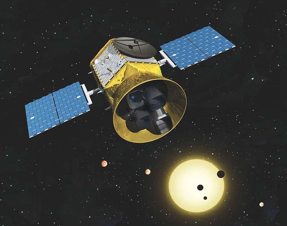 Le satellite Tess utilise la méthode du transit pour chasser les exoplanètes. © Nasa, GSFC