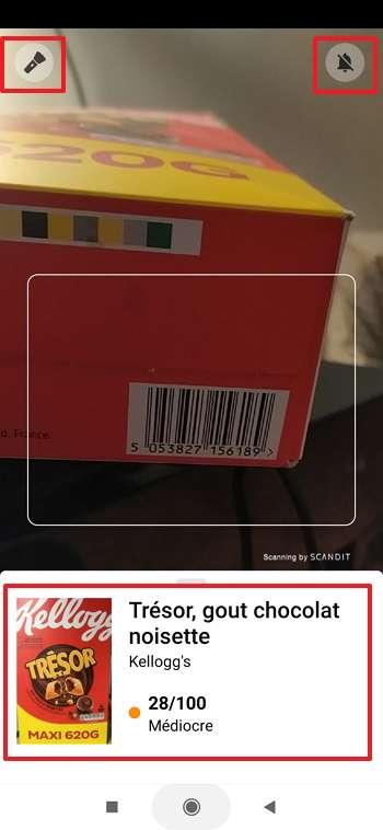 Scannez le code-barres d'un produit pour faire apparaître sa fiche de présentation. © Yuka SAS