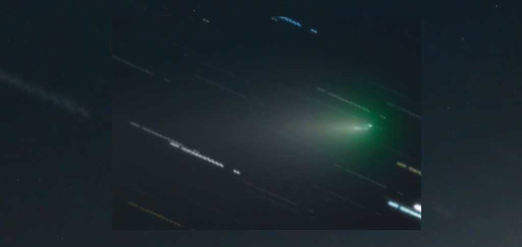 La comète Atlas dans la nuit du 12 au 13 avril 2020. © Milen Minev (Bulgarian Inst. of Astronomy and NAO Rozhen), Velimir Popov, Emil Ivanov (Irida Observatory), Apod (Nasa)