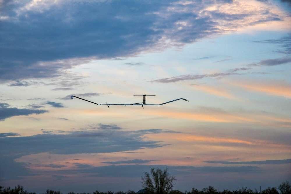 Le drone stratosphérique solaire Zephyr S d'Airbus. © Airbus