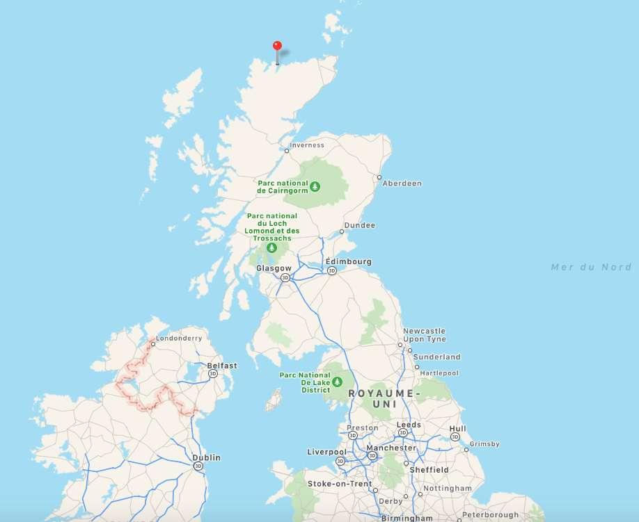 La base de lancement spatial sera implantée dans le Sutherland, au nord de l'Écosse. © Plans