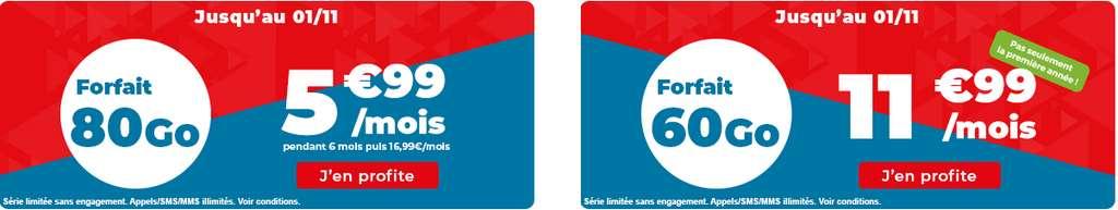 Forfaits 60Go et 80Go en promo © Auchan Telecom