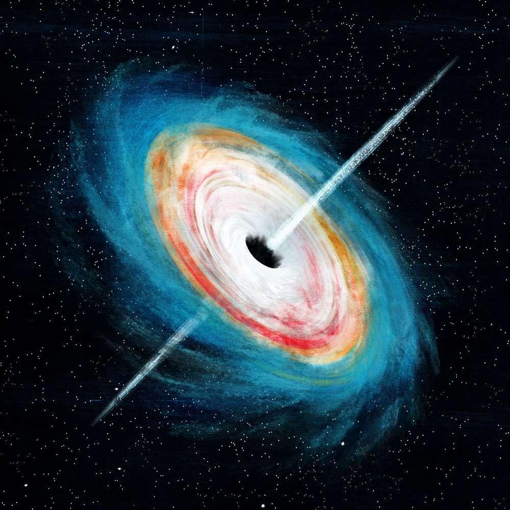 La présence dans l'Univers primitif de trous noirs supermassifs posait question aux astronomes. Des chercheurs de l'université de Western Ontario pourraient avoir trouvé quelques réponses. © Scott Woods, Université de Western Ontario