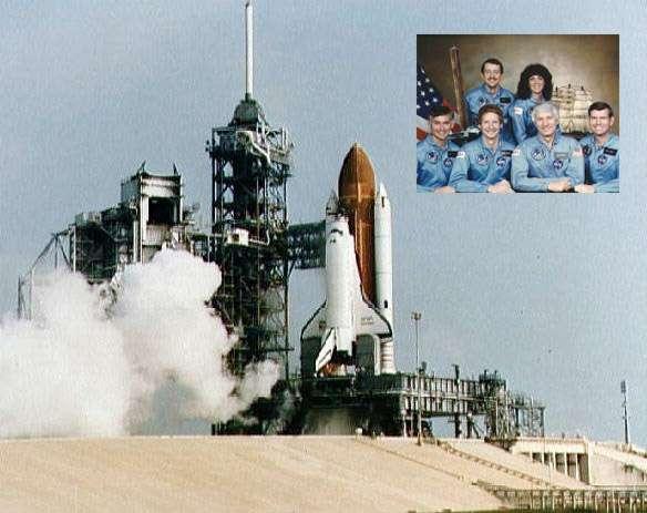 La navette Discovery et son équipage de six astronautes lors de son premier vol opérationnel, le 30 août 1984, pour une mission de six jours dans l'espace (STS-41D). © Nasa