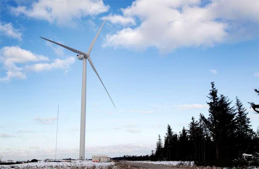 L'éolienne V164-8.0MW a été conçue pour être installée en mer du Nord, mais il est plus facile de réaliser les premiers tests sur la terre ferme. © Vestas Wind Systems A/S, nc nd