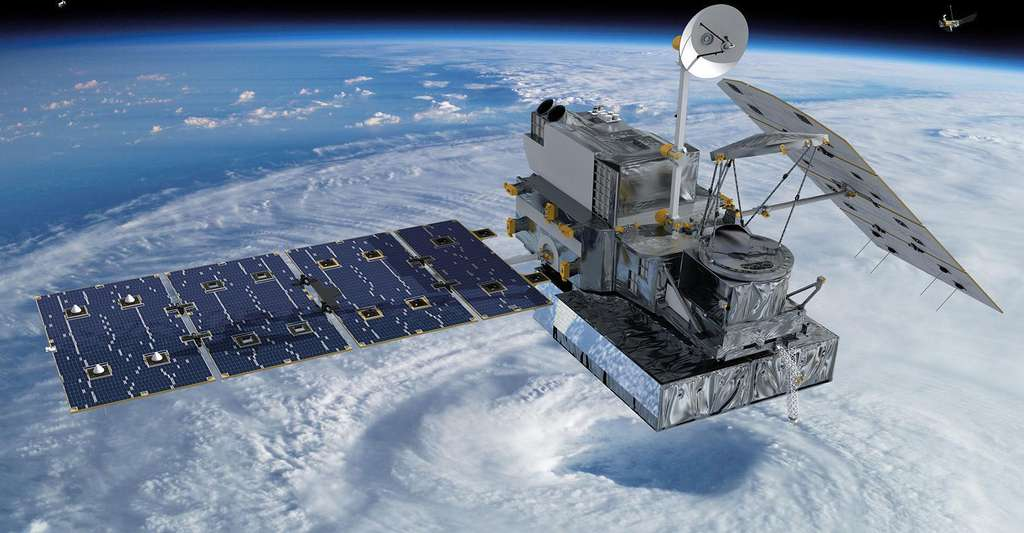 Le GPM Core Observatory est un satellite d'observation utilisant un radar Doppler. © Nasa