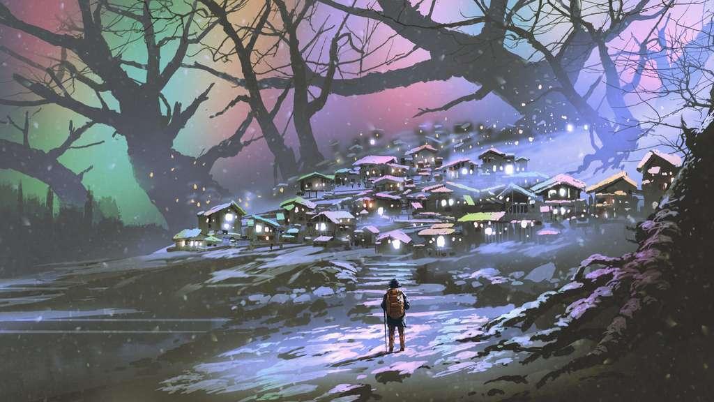 C'est dans un petit village sur une planète perdue qu'Arthur pensait pouvoir trouver la paix. © Grandfailure, Adobe Stock