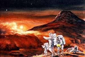 Chaque année, on annonce une mission habitée vers Mars pour la décennie suivante. Cela dure depuis que la Lune a été conquise à la fin des années 1960… (Ciquer sur l'image pour l'agrandir.) © Nasa / Ren Wicks