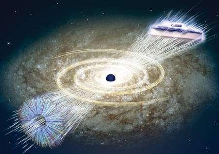 Magiquement, la théorie des trous noirs, celle de la supraconductivité et celle des collisions d'ions lourds conduisant à la formation d'un plasma de quarks-gluons sont mathématiquement liées par la théorie des cordes. Crédit : Nature