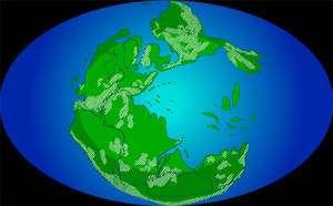 Le mouvement des plaques à l'origine du supercontinent Pangée s'est peut-être arrêté un temps. © Nicolle Rager, National Science Foundation/Paleogeographic Atlas Project, Université de Chicago