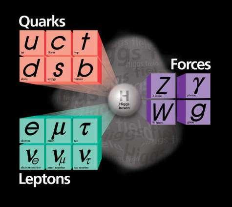 Les particules du Modèle standard électrofaible : Crédit Fermilab.