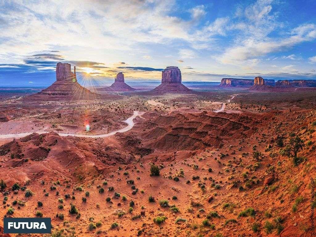 Monument Valley, se situe au nord de l'Arizona