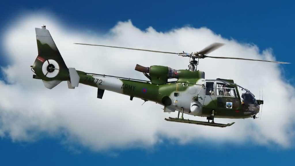 Un hélicoptère Westland Gazelle AH.1
