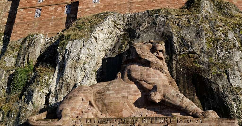 Le département de la Haute-Saône se situe non loin de Belfort. Ici, le Lion de Belfort. © Thesupermat, Wikimedia Commons, CC by-sa 3.0