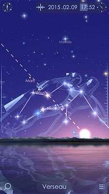 Avec Starwalk, découvrez les beautés du ciel en réalité augmentée. © Vito Technology Inc.
