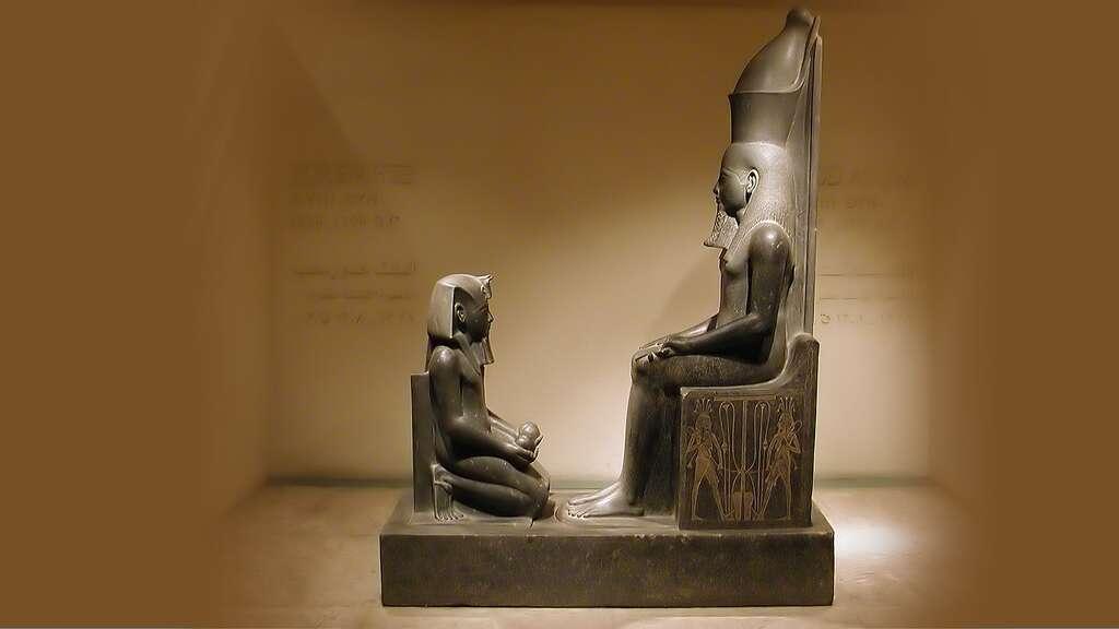 Horemheb devant le dieu Atoum
