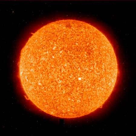 La surface du Soleil vue par Hinode. © Nasa