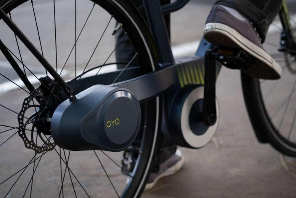 La transmission hydraulique est totalement protégée des chocs et des intempéries. © BC Bike