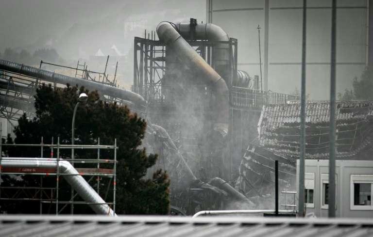 L'usine chimique de Lubrizol un mois après un incendie dévastateur, le 24 octobre 2019, en Seine-Maritime. © Lou Benoist, AFP archives