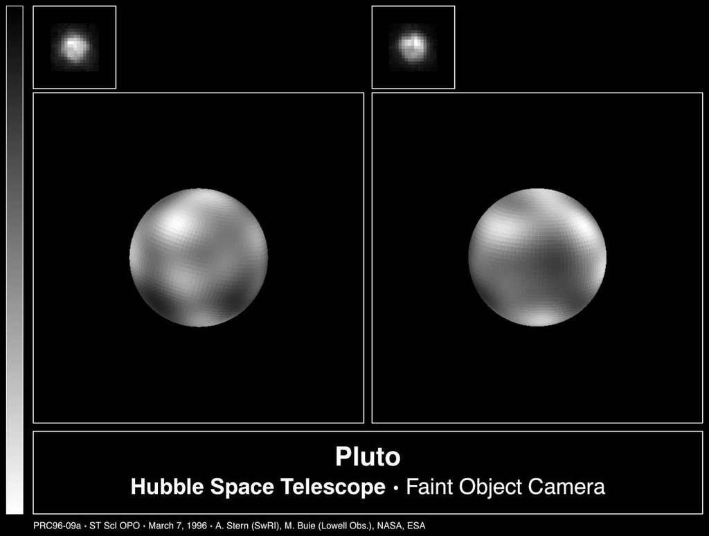 Vue de la surface de Pluton avant New Horizons