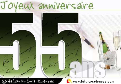 55 ans Joyeux Anniversaire