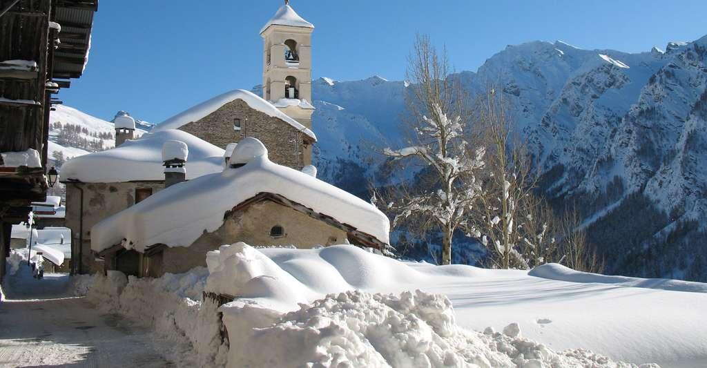 Saint-Véran en hiver. © OT Queyras, Wikimedia commons, DP