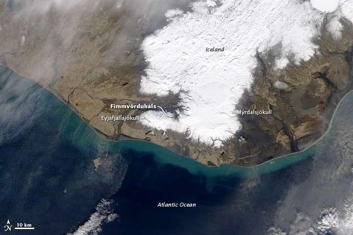 Eruption de l' Eyjafjallajökull 2010-03-26