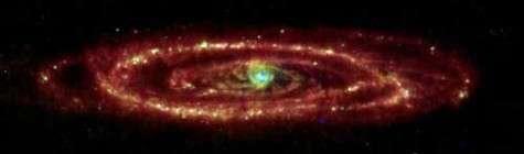 La galaxie Andromède (M31) vue dans l'infrarouge (24, 70, 160 microns
