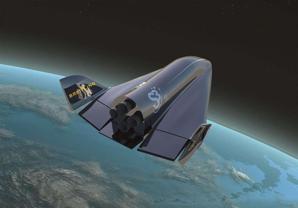 L'avion Soar, conçu par Dassault, se destine en priorité au lancement de petits satellites. Mais il peut tout aussi bien être adapté pour le transport de passagers. © S3