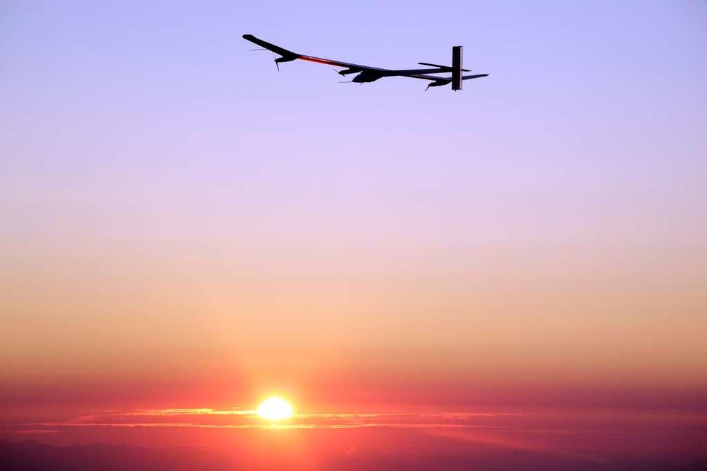 Le premier vol de nuit reste une étape clé das le développement du projet de Solar Impulse. © Solar Impulse, Stéphane Gros