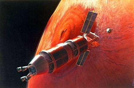 Projet de vaisseau habité martien. Crédit Nasa