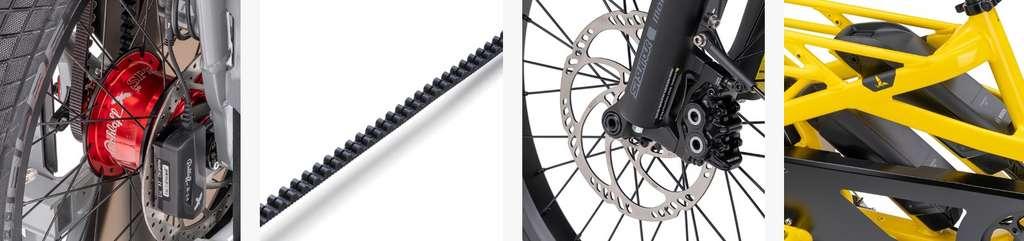 Moyeu Rohloff, courroie Gates, double batterie totalisant 1000 Wh, freins à disque quatre pistons Magura, le Tern GSD R14 est le vélo cargo électrique haut de gamme de la marque. © Tern Bicycles