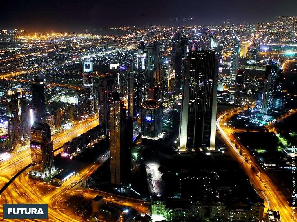 Dubaï vue de nuit