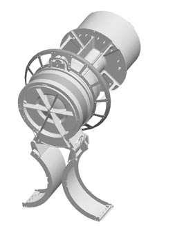 L'instrument Swap, ouvert, prêt à mesurer le vent solaire autour de Pluton. © Nasa