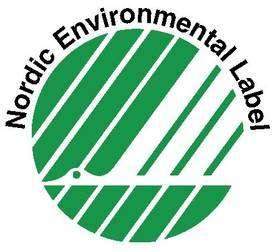 Le cygne blanc, visible sur le logo avec un peu d'imagination, garantit des qualités concernant le vêtement lui-même ainsi que ses effets sur la santé et sur l'environnement.