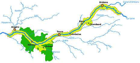 Section du cours de la Loire classé patrimoine mondial. © Domaine public