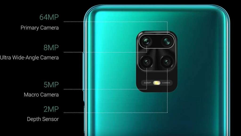 À l'arrière, quatre capteurs photo dont un principal de 64 millions de pixels pour le Redmi Note 9 Pro Max. © Xiaomi