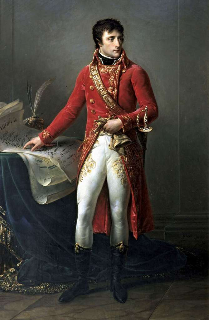Portrait de Napoléon Bonaparte Premier Consul, par Antoine Jean Gros en 1802. Musée de la Légion d'Honneur, Paris. © Wikimedia Commons, domaine public.