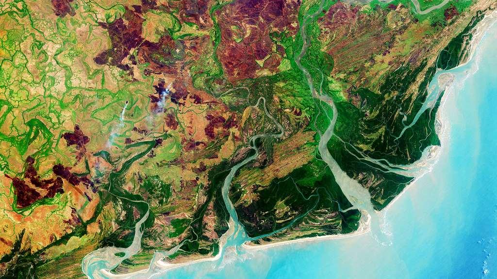 Le delta du Zambèze dans le sud de l'Afrique