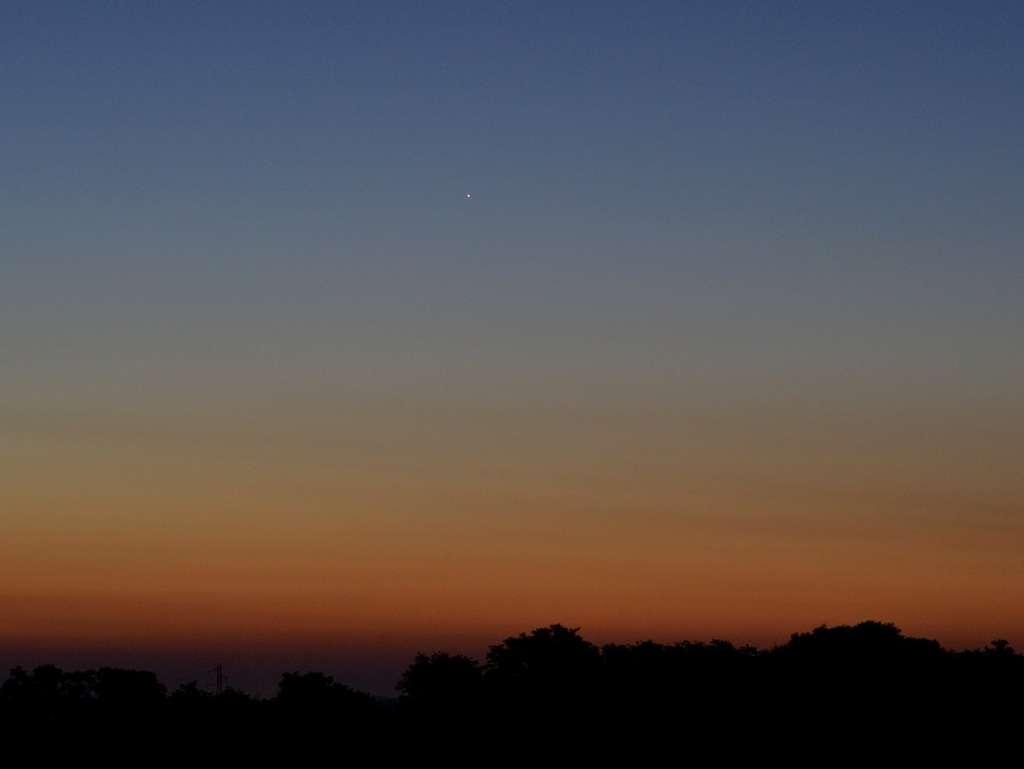 Mercure dans le ciel de l'aube le 3 septembre dernier. © J.-B. Feldmann