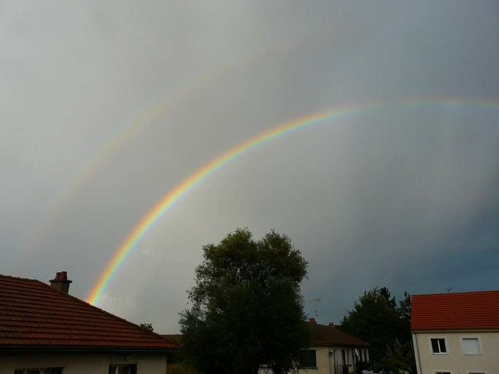 Photo d'un double arc-en-ciel