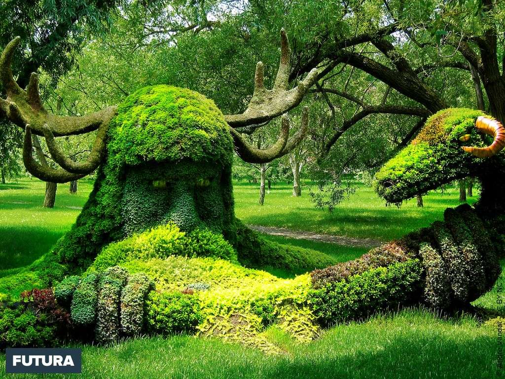 L'homme cerf et le bélier, jardin botanique de Montréal