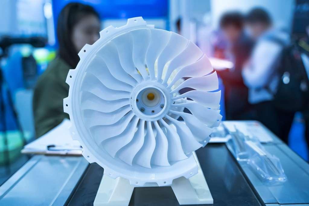 Parmi les grands défis des ingénieurs concepteurs moteur aéronautique : concevoir le moteur écologique d'un avion à empreinte carbone nulle. © xiaoliangge, Adobe Stock